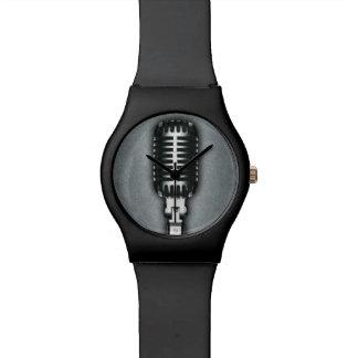 A Classic microphone Wristwatch