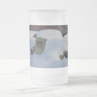 A Classic Pickup Under Snow Mug