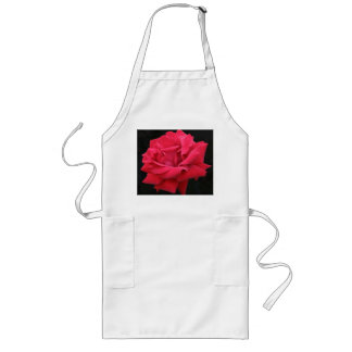 A Classic Red Rose Long Apron