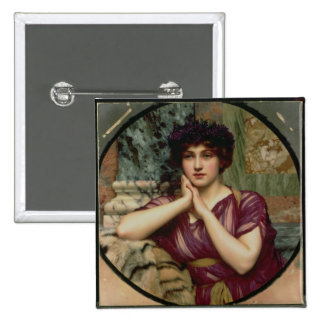A Classical Beauty, 1901 (oil on canvas) 2 Inch Square Button