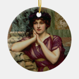 A Classical Beauty, 1901 (oil on canvas) Ceramic Ornament