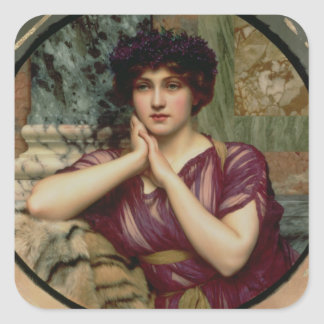 A Classical Beauty, 1901 (oil on canvas) Square Sticker