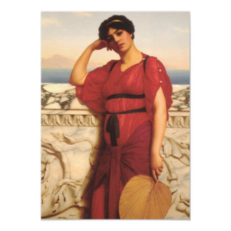 A Classical Lady Painting Card