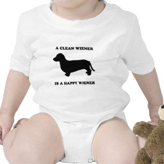 A clean wiener is a happy wiener baby bodysuit