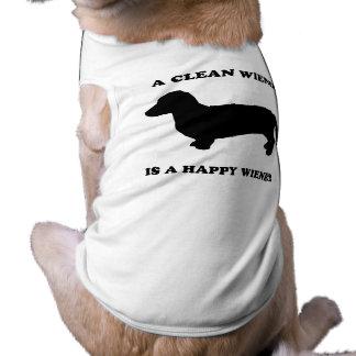 A clean wiener is a happy wiener dog tshirt