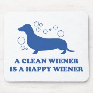 A Clean Wiener Is A Happy Wiener Mouse Pad