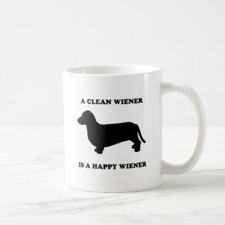 A clean wiener is a happy wiener mugs