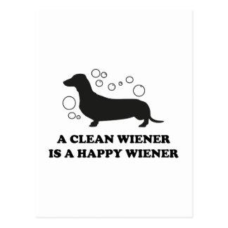 A Clean Wiener Is A Happy Wiener Postcard