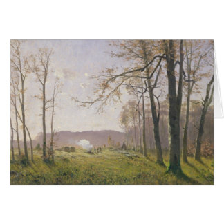 A Clearing in an Autumnal Wood, 1890 Greeting Card