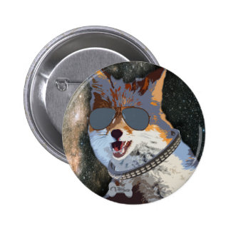 A Clever Fox named Vera 2 Inch Round Button