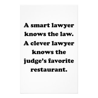A Clever Lawyer Stationery