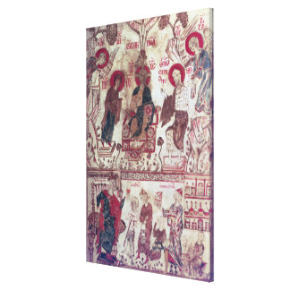 A Clinic, Byzantine Treaty, 14th century (vellum) Canvas Print