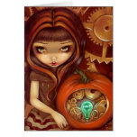 """""""A Clockwork Pumpkin"""" Greeting Card"""