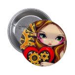 """""""A Clockwork Valentine"""" Button"""