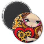 """""""A Clockwork Valentine"""" Magnet"""