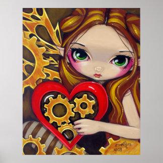 A Clockwork Valentine steampunk fairy Art Print