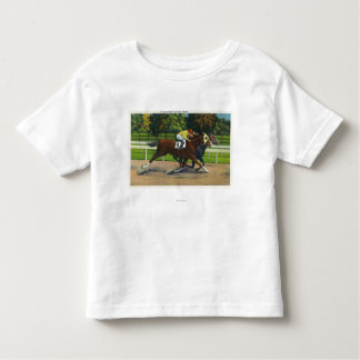 A Close Finish at the Race Track, Horses Toddler T-shirt