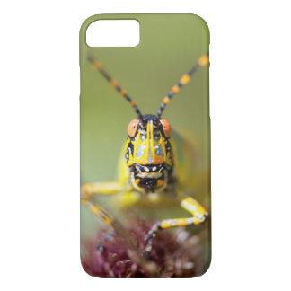 A close-up of an Elegant Grasshopper iPhone 8/7 Case
