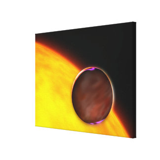 A close-up of an extrasolar planet canvas print