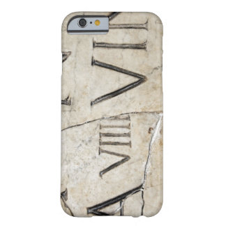 A close-up of ancient Roman letters on marble. Barely There iPhone 6 Case