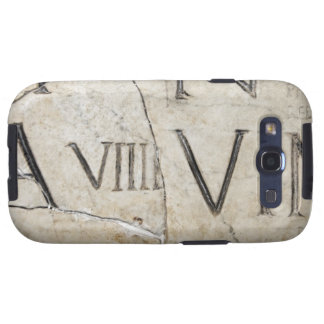 A close-up of ancient Roman letters on marble. Samsung Galaxy SIII Cover