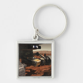 A close-up view of the arm on NASA's Mars Keychain