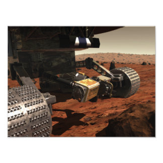 A close-up view of the arm on NASA's Mars Photographic Print