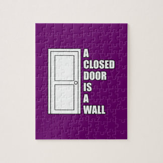 A closed door is a wall jigsaw puzzles
