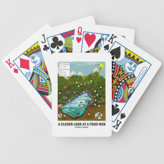 A Closer Look At A Food Web (Biology / Ecology) Bicycle Playing Cards