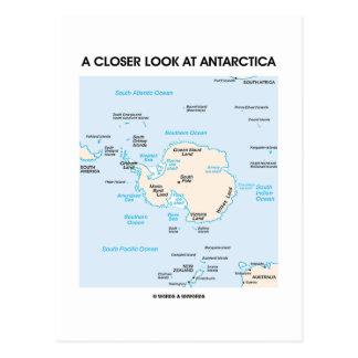 A Closer Look At Antarctica (Map Of Antarctica) Postcard