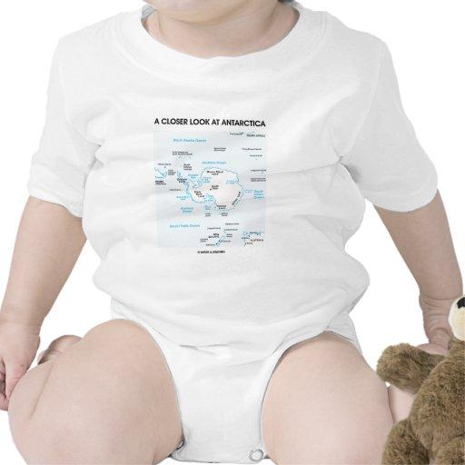 A Closer Look At Antarctica (Map Of Antarctica) T-shirts