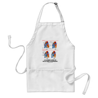 A Closer Look At Blue Baby Syndrome (Heart) Adult Apron