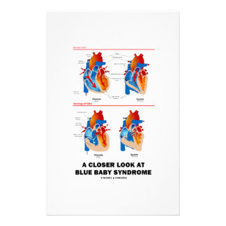 A Closer Look At Blue Baby Syndrome Heart Anatomy Stationery