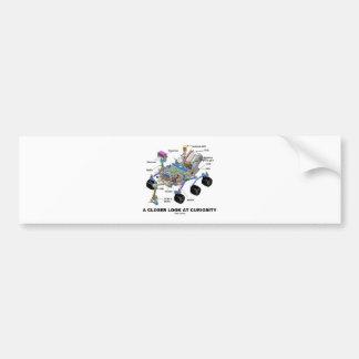 A Closer Look At Curiosity (NASA Martian Rover) Car Bumper Sticker