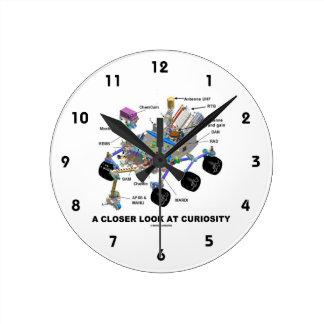 A Closer Look At Curiosity (NASA Martian Rover) Round Clock