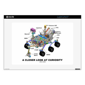 "A Closer Look At Curiosity (NASA Martian Rover) Decals For 15"" Laptops"