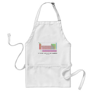 A Closer Look At The Elements (Chemistry) Adult Apron