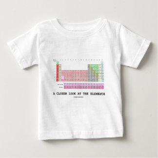 A Closer Look At The Elements (Chemistry) Baby T-Shirt