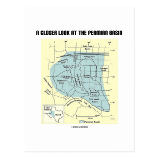 A Closer Look At The Permian Basin (Map) Postcard