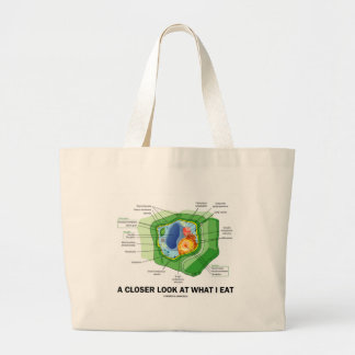A Closer Look At What I Eat (Plant Cell) Tote Bag