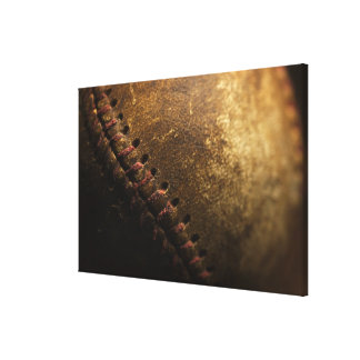 A closeup of an old baseball. Shot with shallow Canvas Print