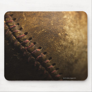 A closeup of an old baseball. Shot with shallow Mouse Pad
