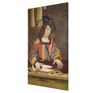 A Cloth Merchant Cutting Cloth Canvas Print