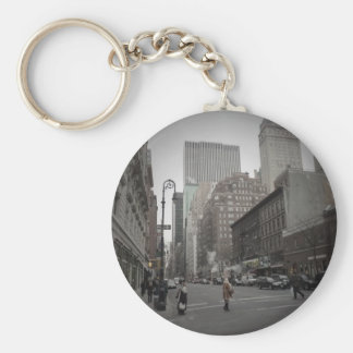 A Cloudy Day on the Upper East Side Key Chain