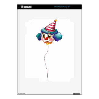 A clown balloon with a hat iPad 2 skins