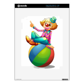 A clown sitting on a ball skins for the iPad 2