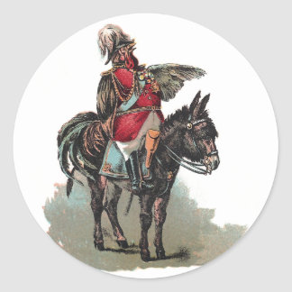 A Clucky Commander in Chief Classic Round Sticker
