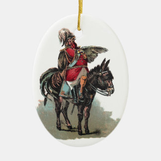 A Clucky Commander in Chief Christmas Tree Ornament