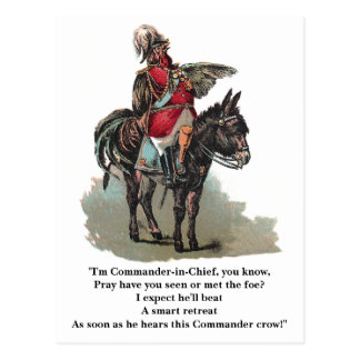 A Clucky Commander in Chief Postcard