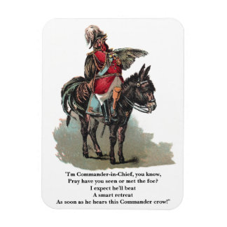 A Clucky Commander in Chief Rectangular Photo Magnet